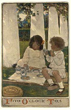 Five O'Clock Tea by Jessie Wilcox Smith