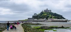 Tourists On The Causeway - St. Michael's Mount, Cornwall, England, UK