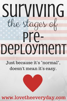 Faith in God and his timing while preparing for deployment
