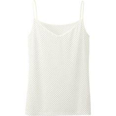 Uniqlo - WOMEN AIRism CAMISOLE (DOT) - Size: S - Color: 01 OFF WHITE