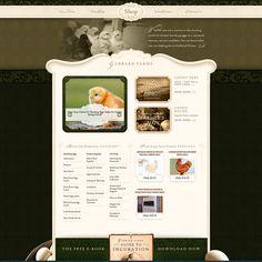 茶色をベースにしたカッコイイデザインのサイト | イイネ!WEBデザイン