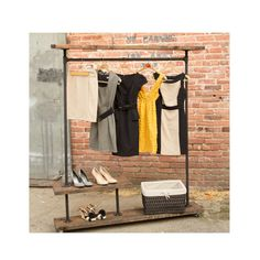 Pipe Furniture Clothing Rack  I Rack Half by MaverickIndustrial, $375.00. My kind of garment rack....