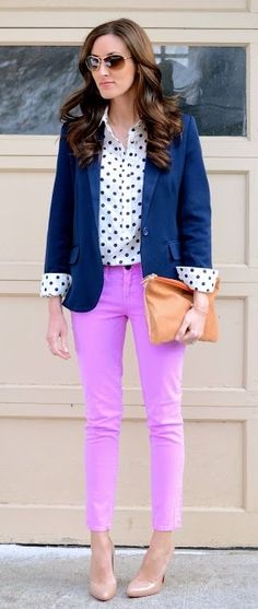 a preppy spring outfit, perfect for a casual-dressy working #career day {Classroom Couture}