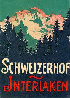 hotel schweizerhof interlaken switzerland - Art of the Luggage Label