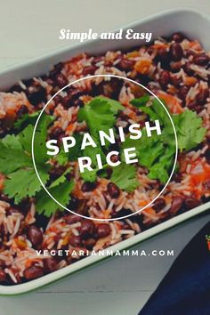 This Easy Spanish Rice dish is not only delicious the first night but makes for a great lunch the next day! This dish is naturally gluten-free and dairy-free. Gluten Free Rice, Gluten Free Dinner, Dairy Free, Wild Rice Recipes, Vegan Recipes Easy, Free Recipes, Rice Side Dishes, Vegetable Side Dishes, Crepes