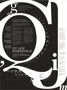 ITC NEW BASKERVILLE - typographic poster on Behance