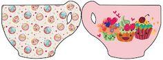 Cupcakes Fofinhos – Kit Completo com molduras para convites, rótulos para guloseimas, lembrancinhas e imagens! |Fazendo a Nossa Festa Party Sweets, Blogger Templates, Cupcakes, Kids Rugs, Awesome, Sweet Like Candy, Cakes, Diy Home, Softies
