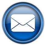 Mail envelope icon button -