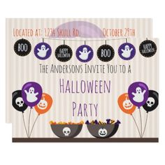 Halloween Decorations Card - holidays diy custom design cyo holiday family
