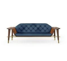 Curtis Sofa   Essentials Home Mid Century Furniture   Essential Home   Mid Century Furniture Brand   A selection of the most coveted mid century modern pieces. Armchairs and barstools are made of the perfect combination of exotic materials, soft velvet, luxurious leather and brass details.   www.bocadolobo.com/ #partner brands #luxuryfurniture