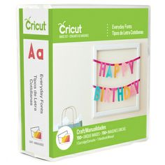 Now there's a font for nearly every occasion with the Cricut Everyday Fonts cartridge. The six different options in this Everyday collection offer casual, everyday lettering for any project, including