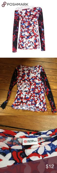 NWOT Peter Pilotto Red White & Blue Long Sleeve T New with out tags, Peter Pilotto for Target long sleeve T shirt.  Red, white and blue floral pattern. Size L. Never worn. Peter Pilotto for Target Tops Tees - Long Sleeve