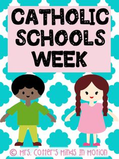 #CatholicSchoolsWeek This pack includes simple, fun ways to incorporate religion into Catholic Schools Week. My students love playing scoot and now you can play a version that reviews their faith! Included are several writing activities, two levels of bible scoot, brag tags, bookmarks, and two cute banners.