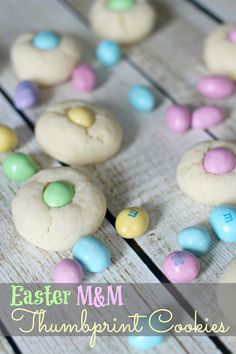 Easter M&M Thumbprint Cookies‏
