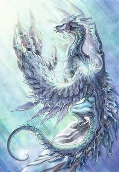 Want to discover art related to dragons? Check out inspiring examples of dragons artwork on DeviantArt, and get inspired by our community of talented artists. Fantasy Kunst, Fantasy Art, Dragon Medieval, Ice Dragon, Snow Dragon, Crystal Dragon, Cool Dragons, Dragon Artwork, Dragon Pictures