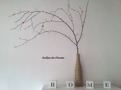 DIY Arbre à fleurs (printemps) papier de soie