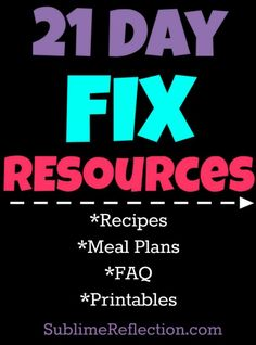 21 Day Fix Resources! - Sublime Reflection
