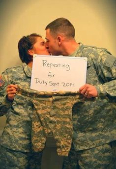 Military baby announcement