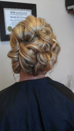 formal updo... obsessed with the color as well