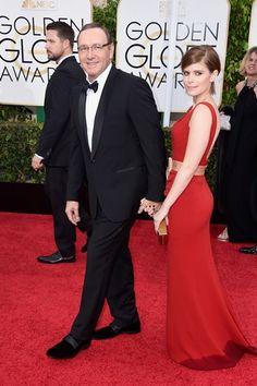 Globo de Ouro 2015 - Kevin Spacey e Kate Mara
