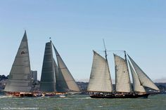 During the America's Cup Races - The Superyachts. San Francisco, California. September 2013.