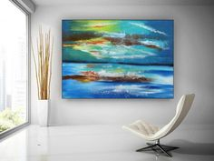 Extra Large Wall Art Abstract Painting Bedroom Decor image 1 Colorful Paintings, Acrylic Paintings, Original Paintings, Original Art, Oversized Wall Art, Extra Large Wall Art, Office Wall Art, Large Painting, Texture Art