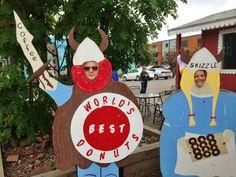 """World's Best Donuts"" in Grand Marais, MN."