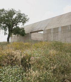 HEAVY POUR   A side entrance to the villa. Olgiati estimates that 500 truckloads of...