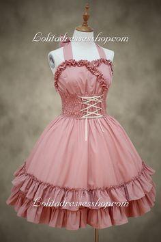 Beautiful Ladies Pink Straps Sweet Lolita Dress