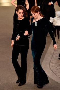 Kristen Stewart and Julianne Moore - Chanel Couture A/W 15 show collection pictures   Harper's Bazaar