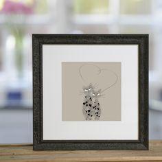 Kitten Hearts - £40 framed print from Sophie Morrell