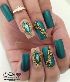 summer nails acrylic nails nails fall nails winter nails spring coffin nails gel… – - New Site Fall Acrylic Nails, Autumn Nails, Winter Nails, Summer Nails, Gem Nails, Sparkle Nails, Bling Nails, Cute Nails, Pretty Nails
