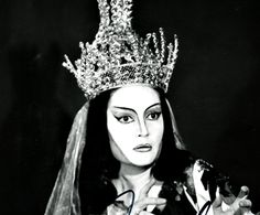Edda Moser in their Para Drolle as Queen of the Night from Mozarts Magic Flute