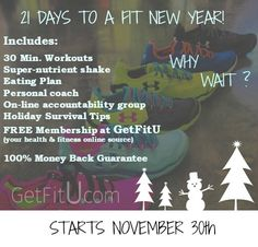 The best Christmas present you will ever give yourself!  It's not to late to join, sign up link: https://tricia4success.wufoo.com/forms/challenge-group-application/