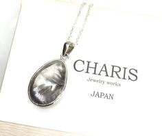 "Etsy のPlatinum,rutile,quartz,gemstone,pendant,and,silver,necklace,""one of a kind jewelry"",gemstone,pendant,necklace,japan,handmade,jewelry,necklac(ショップ名:CHARISJewelry)"