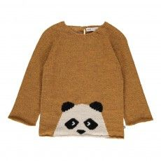 Exclusivité Oeuf x Smallable - Pull Baby Alpaga Panda Ocre Oeuf NYC - Mode Bébé- Smallable Exclusivité Oeuf x Smallable - Pull Baby Alpaga Panda Ocre Oeuf NYC - Mode Bébé- Smallable Baby Girl Cardigans, Baby Sweaters, Knitting For Kids, Baby Knitting, Toddler Fashion, Kids Fashion, Crochet Pullover Pattern, Pull Bebe, Baby Alpaca