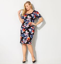 Avenue plus size katherine georgette dress