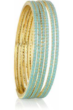 turquoise bangles, love!