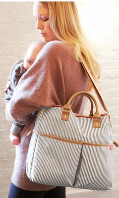 adorable #grey striped duo diaper bag http://rstyle.me/n/hfnuvr9te