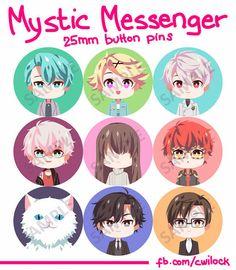 Mystic Messenger 25mm button pins