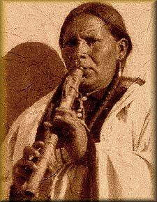 Native American Flute player from 1913.