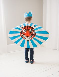 Let your inner Big Cat loose in this precious Tiger cape. Pink/Gold/Black or Blue/Orange?Black made from natual cotton and eco friendly ink, this
