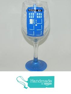 Dr Who Tardis wine glass from Custom Creations by Danielle LLC https://www.amazon.com/dp/B0163K8DEU/ref=hnd_sw_r_pi_dp_NMiVybXHDKGE1 #handmadeatamazon