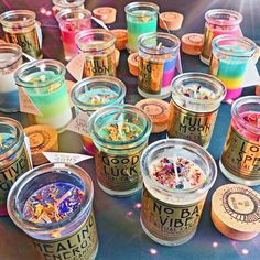 These Ritual Candles radiate pure magic! Each candle is infused with crystals and charged under the Full Moon + it comes with a little card outlining how to do your own ritual corresponding to the different themes. Cute Candles, Unique Candles, Black Candles, Diy Candles, Scented Candles, Glitter Candles, Rose Candle, Candle Magic, Candle Spells