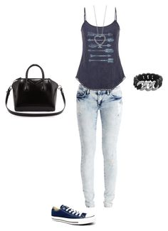 """Bez naslova #461"" by dinka1-749 ❤ liked on Polyvore featuring VILA, maurices, Converse and Givenchy"