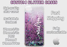 Custom Glitter Cell Cases, Custom iPhone Glitter Case, Sparkle Case, Personalized Glitter iPhone, Personalized Cell Case, Glitter Name Case by fourKdesignShop on Etsy
