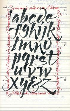Calligraphy set in flickr by Karen McGinn