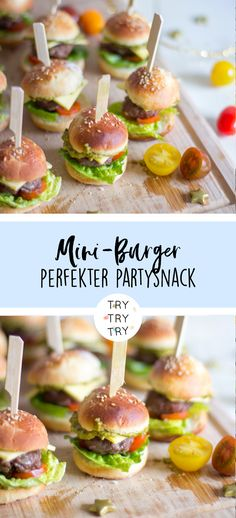The perfect party snack! Mini burger - The perfect party snack! Mini-Burger Delicious idea for our next children& birthday! Party Finger Foods, Snacks Für Party, Appetizers For Party, Drink Party, Low Fat Cookies, Different Vegetables, Nutrition, Fiber Foods, Homemade Cookies