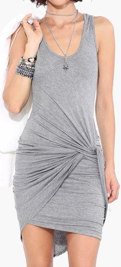 Twist bodycon dress //