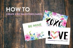 3 DIY Valentines Day Cards - The Hungry JPEG